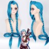 League of Legends LOL Loose Cannon Jinx Blue Cosplay Wig