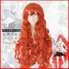 Land of the Lustrous Padparadscha Red Long Curly Synthetic Hair Cosplay Wig