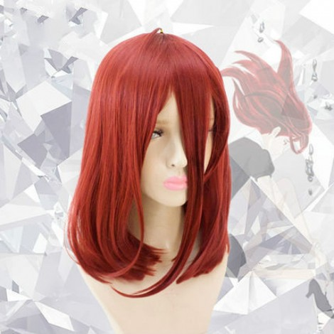 Land of the Lustrous Cinnabar Red Medium Synthetic Hair Cosplay Wig